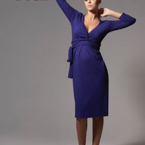 Isabella Oliver Purple/Blue Wrap Dress